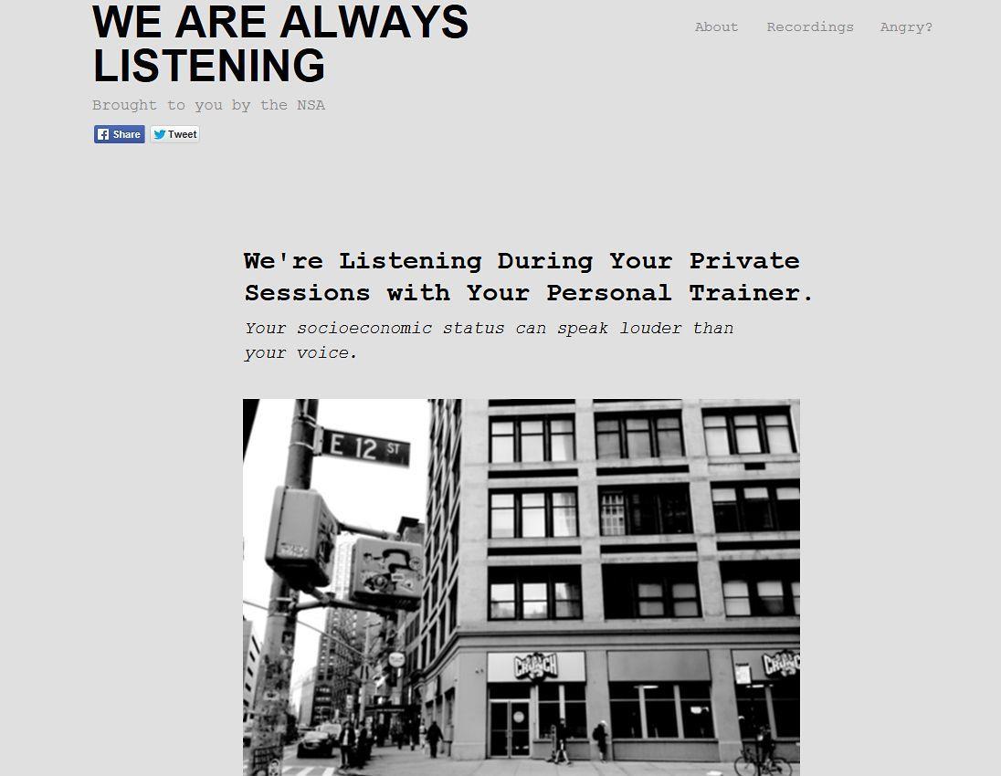 EINMALIGE VERWENDUNG NUR ALS ZITAT Screenshot Wa are always Listening