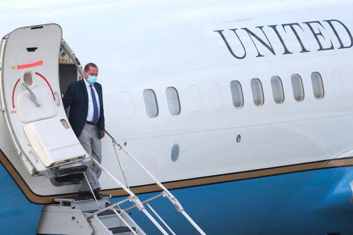 US-Gesundheitsminister Alex Azar bei seiner Ankunft in Taiwan