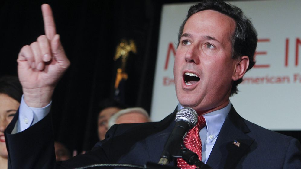 Republikaner-Vorwahlen: Triumph für Rechtsaußen Santorum