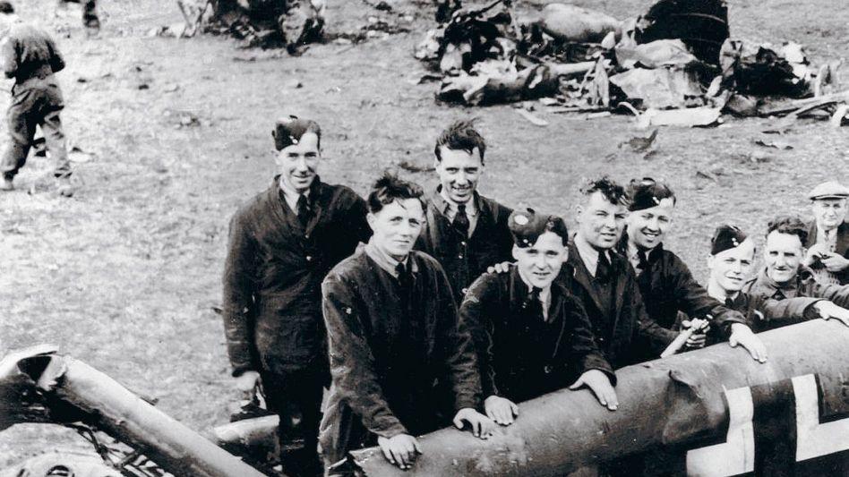 Wrack des Heß-Flugzeugs 1941 (in Schottland)