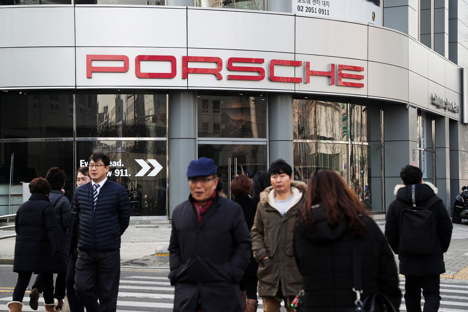 EINMALIGE VERWENDUNG Porsche Seoul