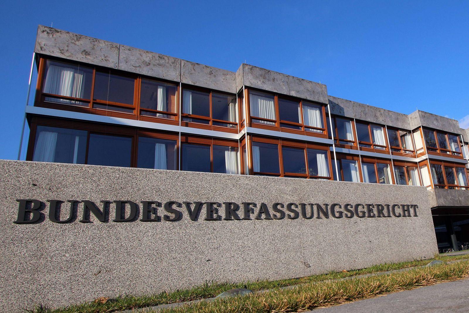 EINMALIGE VERWENDUNG Bundesverfassungsgericht in Karlsruhe