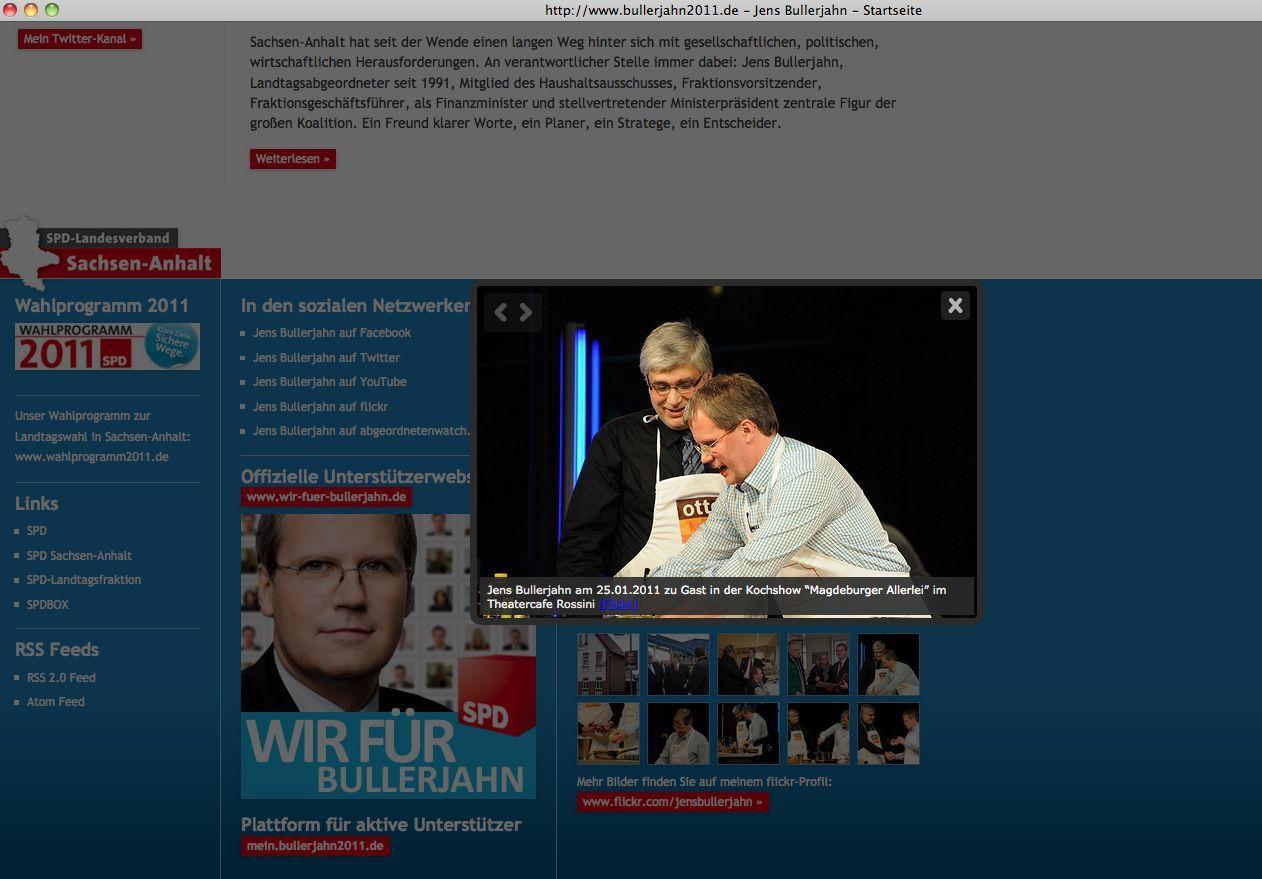 NUR ALS ZITAT Screenshot / Wahlkampf Skurril / jens Bullerjahn