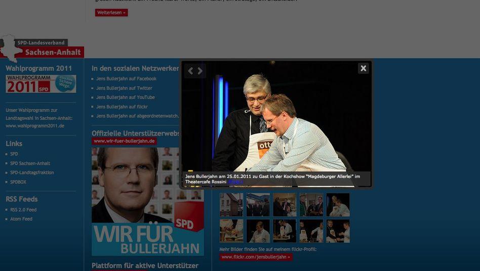 Bullerjahn kann auch kochen: Website des SPD-Spitzenkandidaten in Sachsen-Anhalt