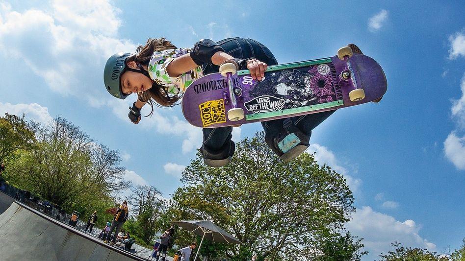Skateboarderin Stoephasius: »Es gibt im Skateboard keine Regeln. Du kannst die Tricks machen, die du machen möchtest, und es wird niemand etwas dagegen sagen«