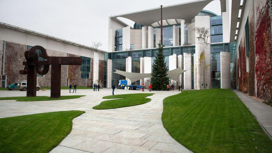 Kanzleramt in Berlin: Geheime Papiere über US-Unternehmen