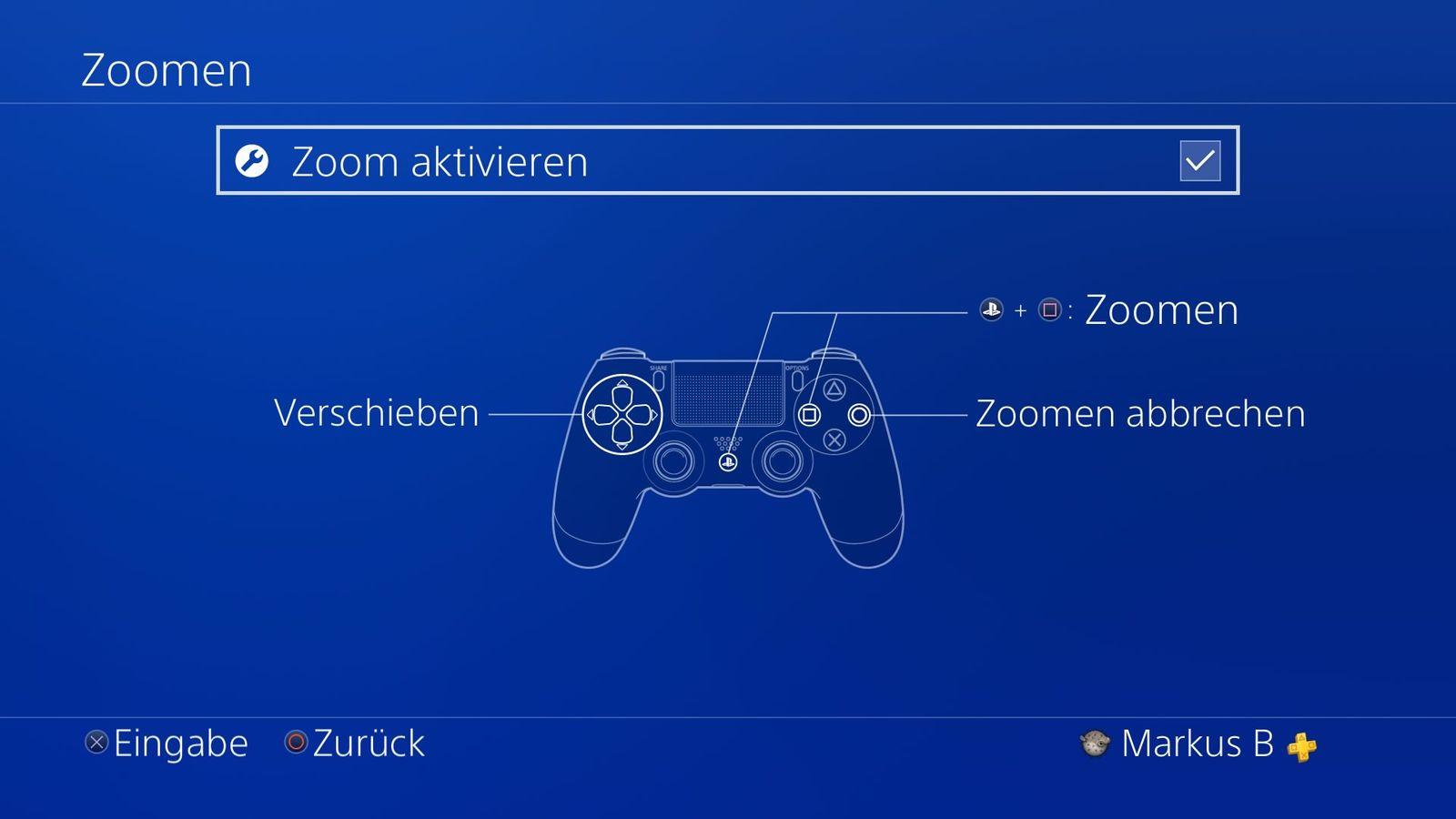EINMALIGE VERWENDUNG Spiele und Schriftgroessen/ Playstation Barrierefreiheit