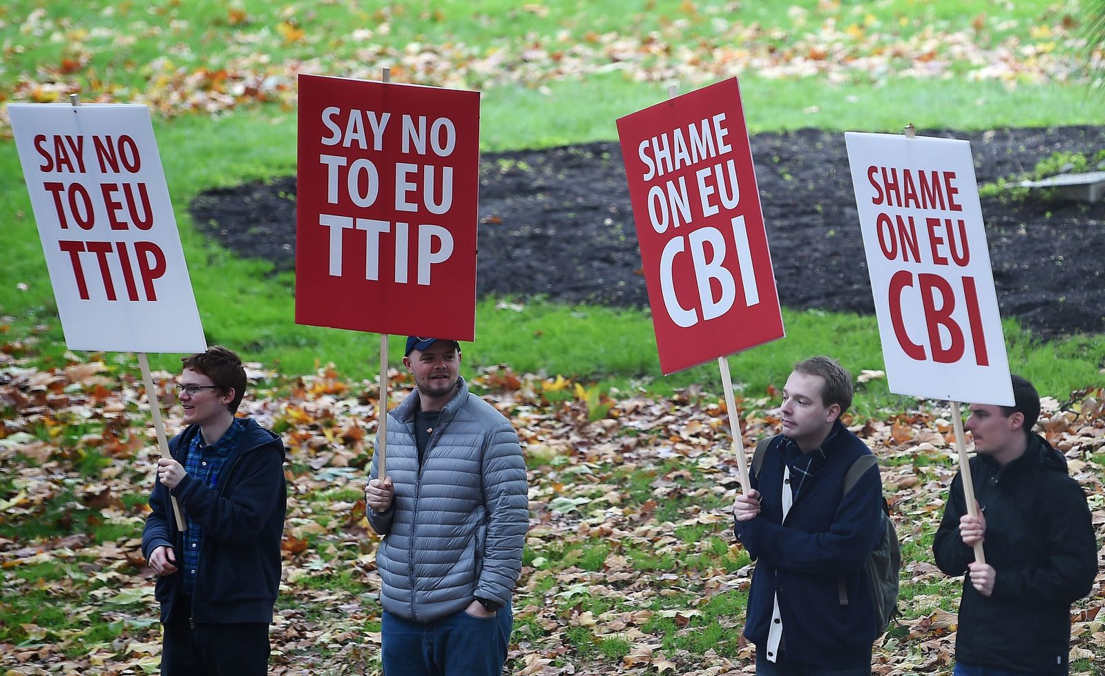 Stop TTIP London proteste