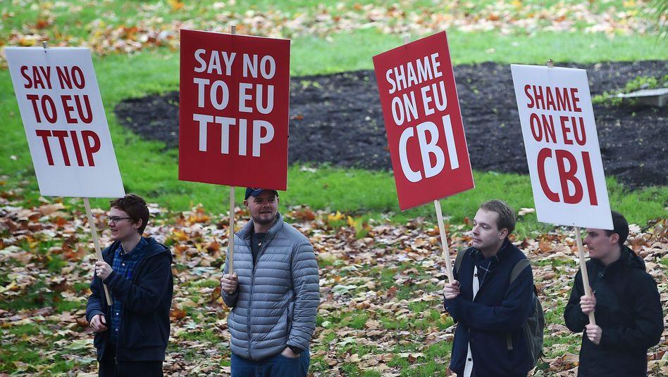 TTIP-Gegner in London: Europaweiter Widerstand