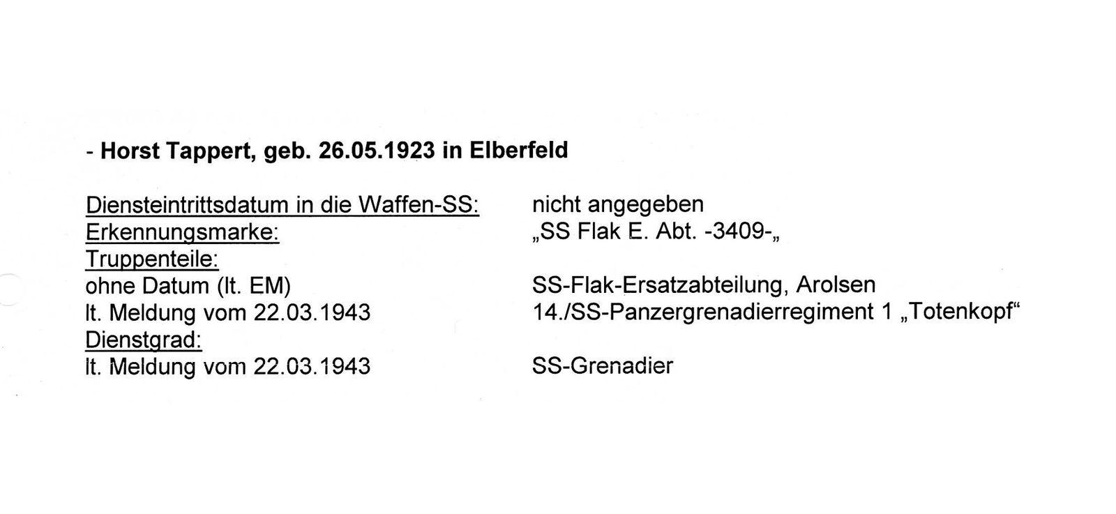 Horst Tappert/ Waffen-SS