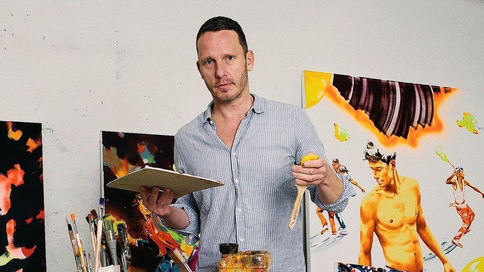 Künstler Bisky in seinem Atelier:Sich für eine Weile vergessen