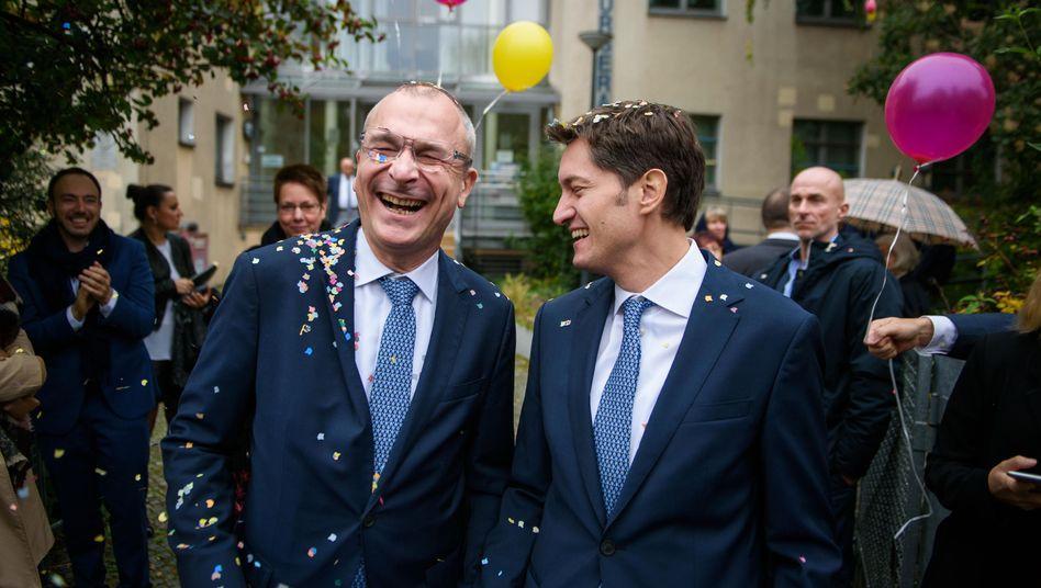 Frisch verheiratet: Volker Beck und sein Lebensgefährte Adrian Petkov