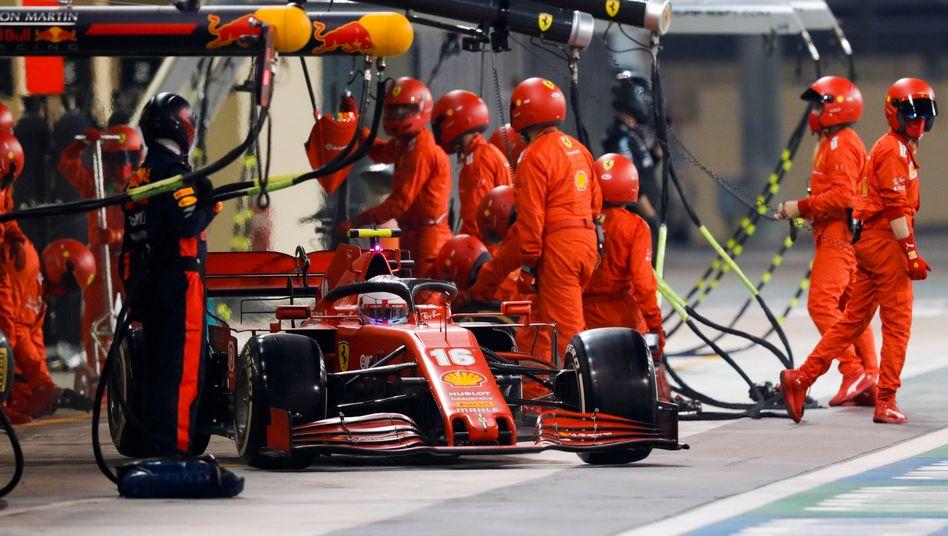 Ferrari-Pilot Charles Leclerc beim Großen Preis von Abu Dhabi