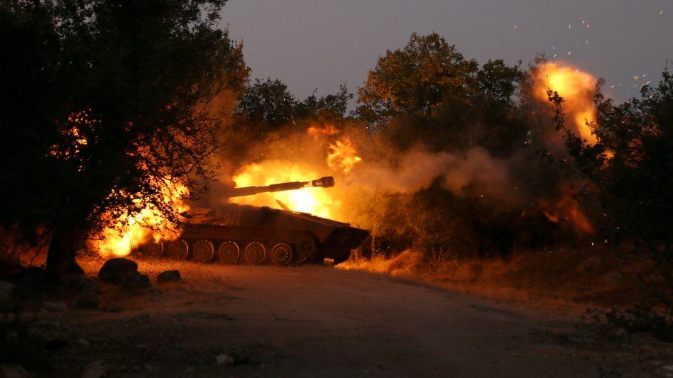 Panzer der Rebellen in Nordsyrien