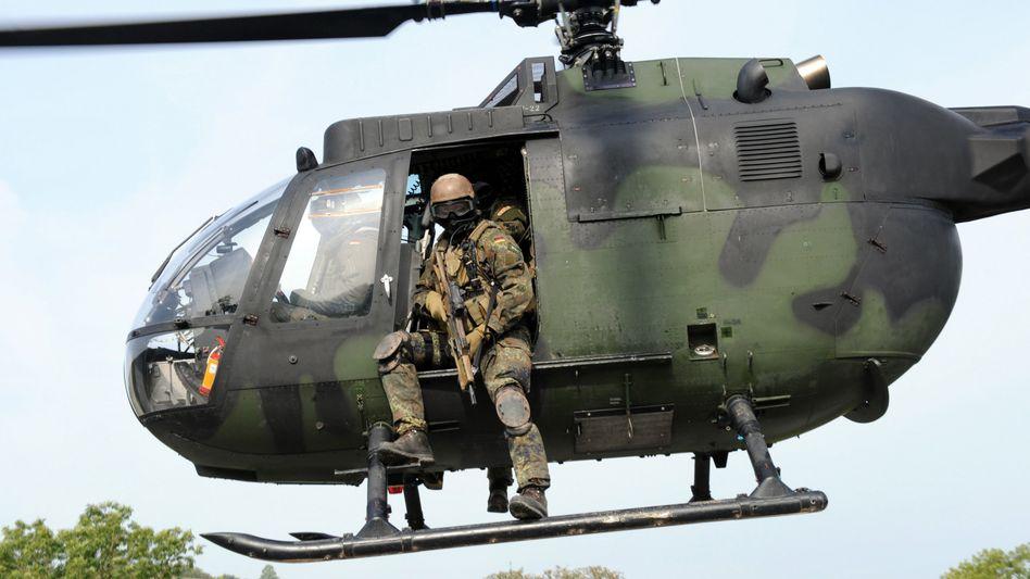 Soldaten der Bundeswehr-Eliteeinheit KSKbei einer Übung (Archivbild)