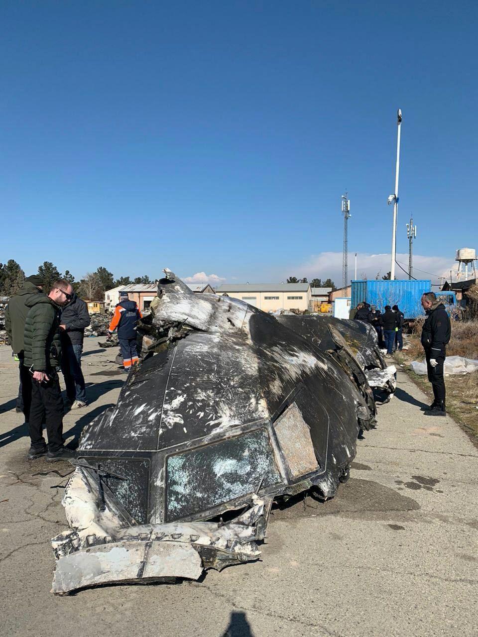 Ukraine International Airlines plane crashes near Tehran with over 170 people on board, Kiev - 11 Jan 2020