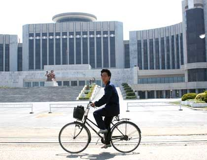 """Fahradfahrer in Pjöngjang: Mit Typ """"Seemöwe"""" eine gute Partie"""