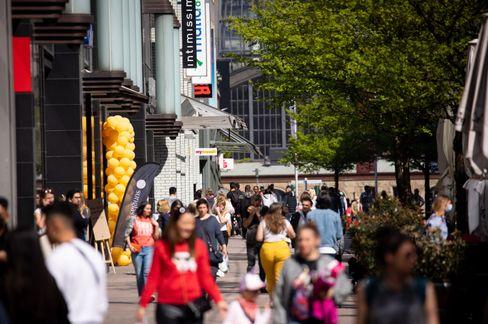 Die Hamburger Innenstadt am Donnerstag