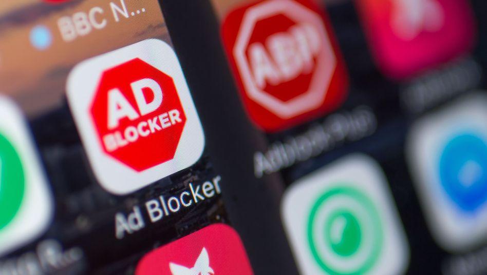 App-Symbol eines Werbeblockers