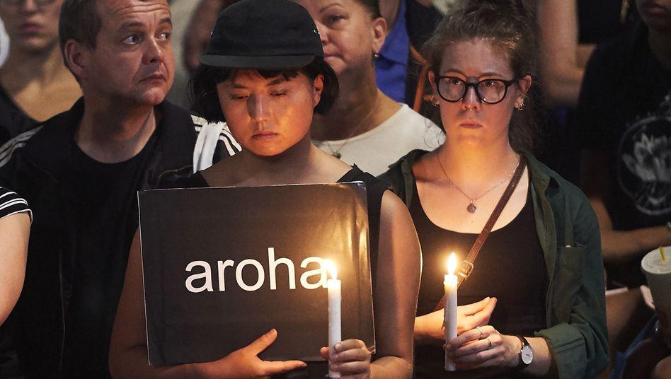 Trauernde im australischen Melbourne