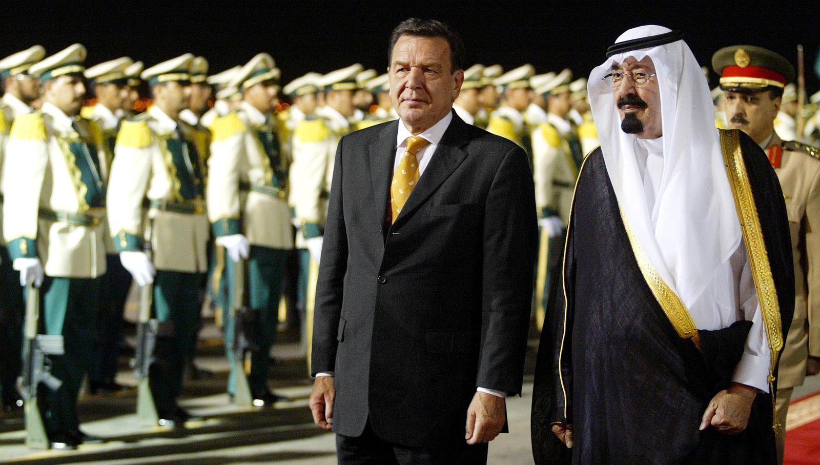Schröder/ Saudi Arabien 2003