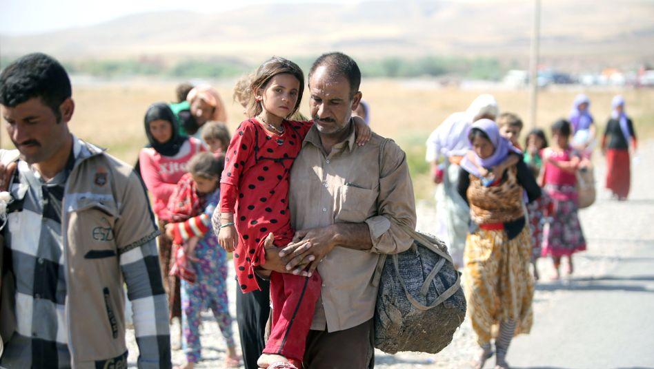 Irakische Flüchtlinge an der Grenze zu Syrien: Asylreform, um Platz zu schaffen