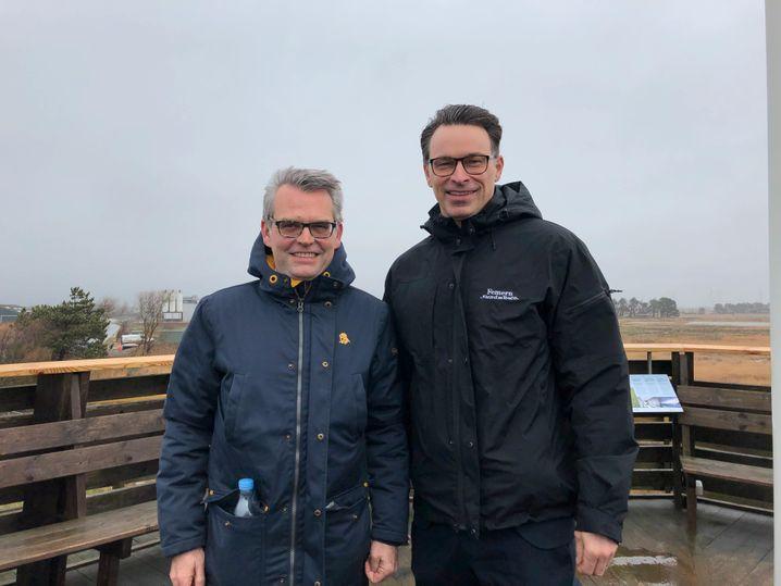 Tunnelplaner Matthias Laubenstein und Lars Friis Cornett: Tausende Einwendungen auf deutscher Seite, weniger als 50 auf dänischer