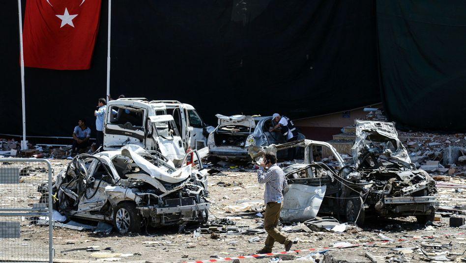 Nach der Explosion in Elazig