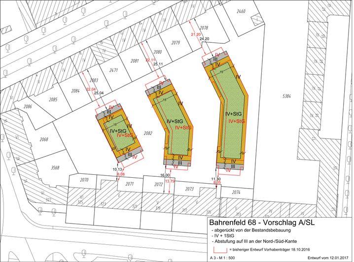 Bauplan-Entwurf für den Innenhof