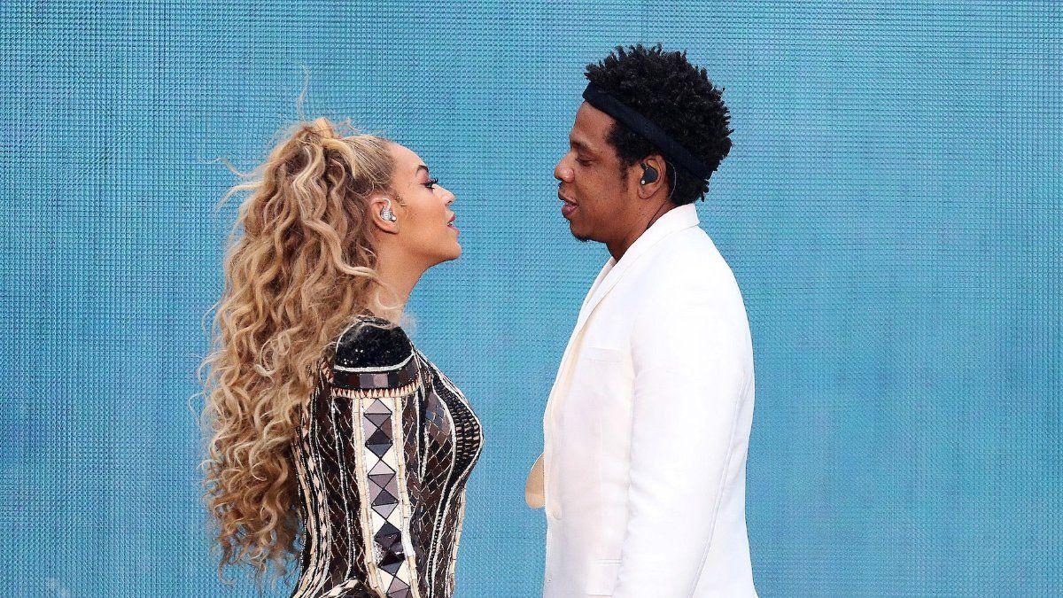 EINMALIGE VERWENDUNG Beyoncé Jay-Z in Berlin