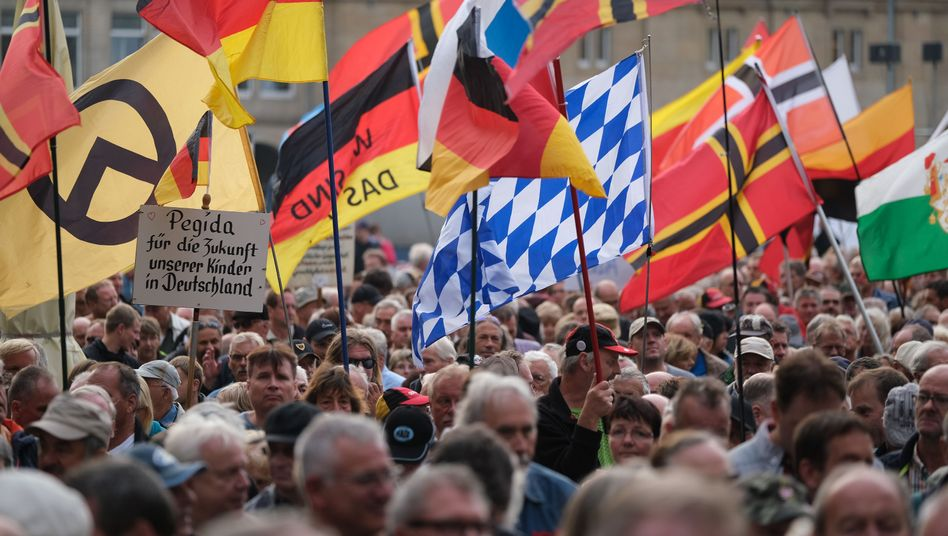 Islamfeindliche Kundgebung in Dresden, Juli 2019