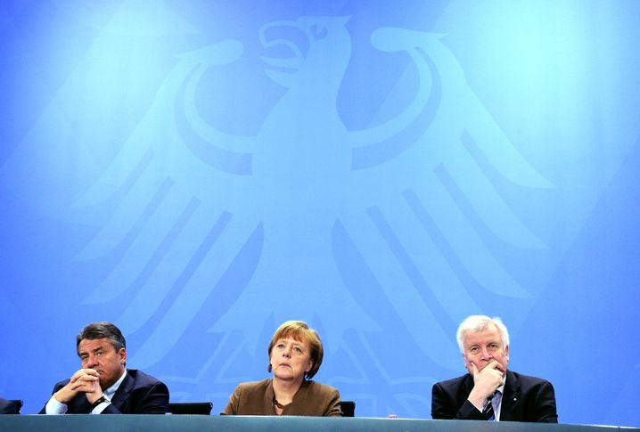 Parteichefs Gabriel, Merkel, Seehofer