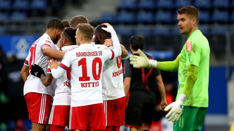 Der Hamburger SV ist weiterhin auf Aufstiegskurs