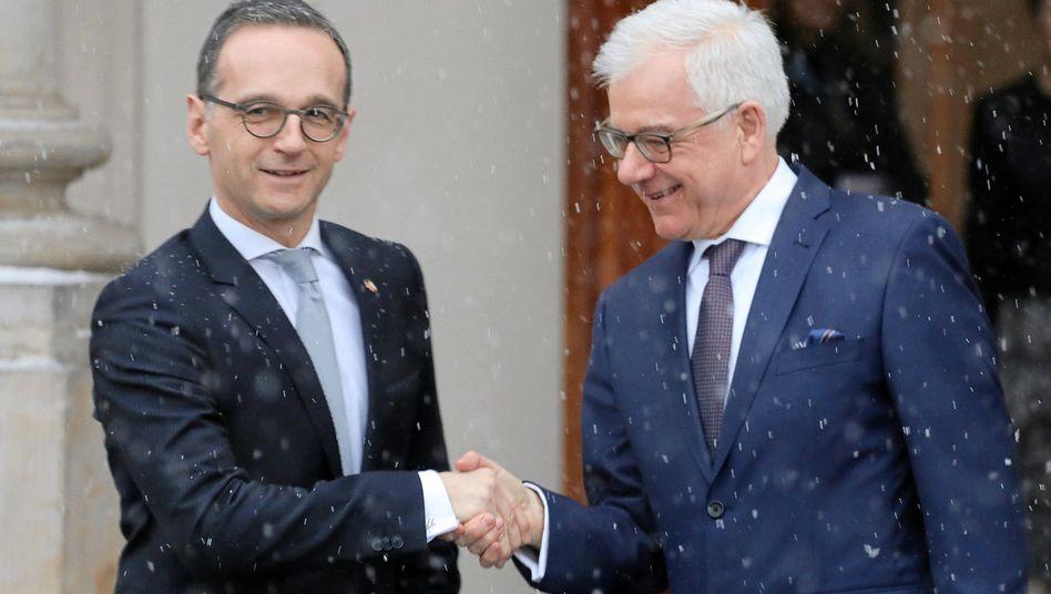 Bundesaußenminister Heiko Maas und sein polnischer Amtskollege Jacek Czaputowicz