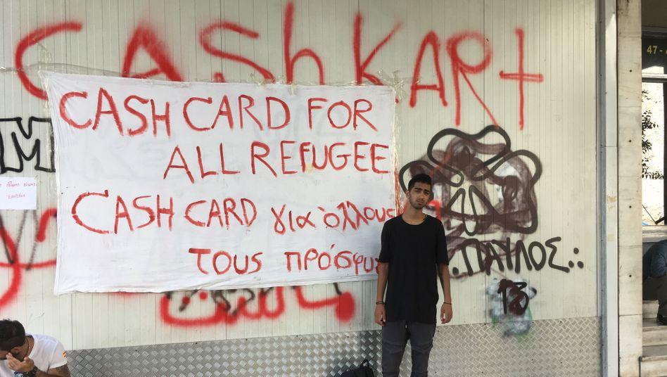 Majid in Athen: Seit zwei Jahren steckt er in Griechenland fest