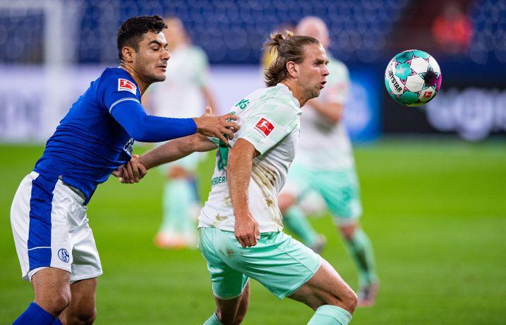 Hatte nicht seinen besten Tag: Schalkes Ozan Kabak (gegen Bremens Niclas Füllkrug)