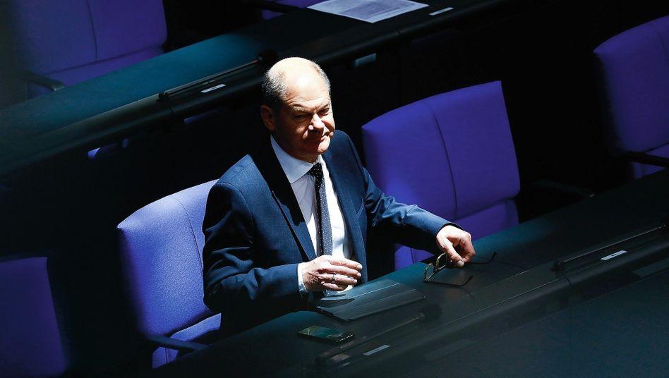 Bundesfinanzminister Olaf Scholz: mindestens 50 Milliarden Euro für das geplante Konjunkturpaket