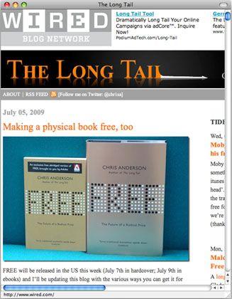 """Buchwerbung: """"Wired""""-Chef Anderson verkauft die Papier-Version seines neuen Sachtitels """"Free"""""""