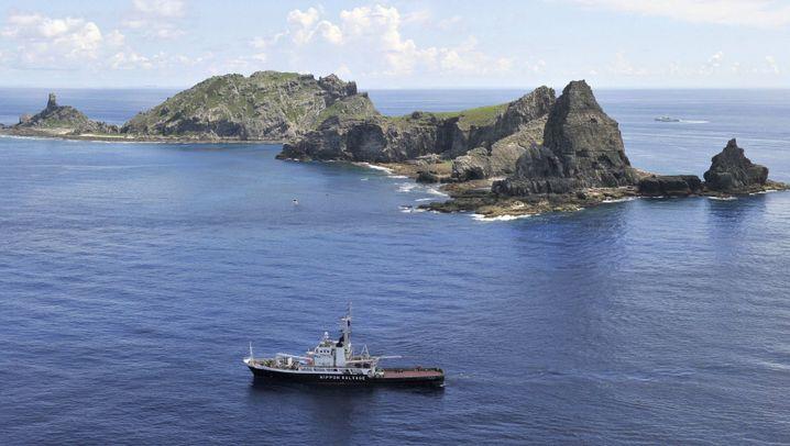 Umstrittene Inselgruppe: Patrouillenfahrt um Senkaku-Inseln