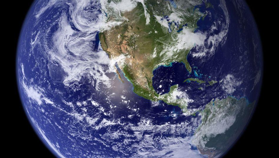 Westliche Hemisphäre der Erdkugel