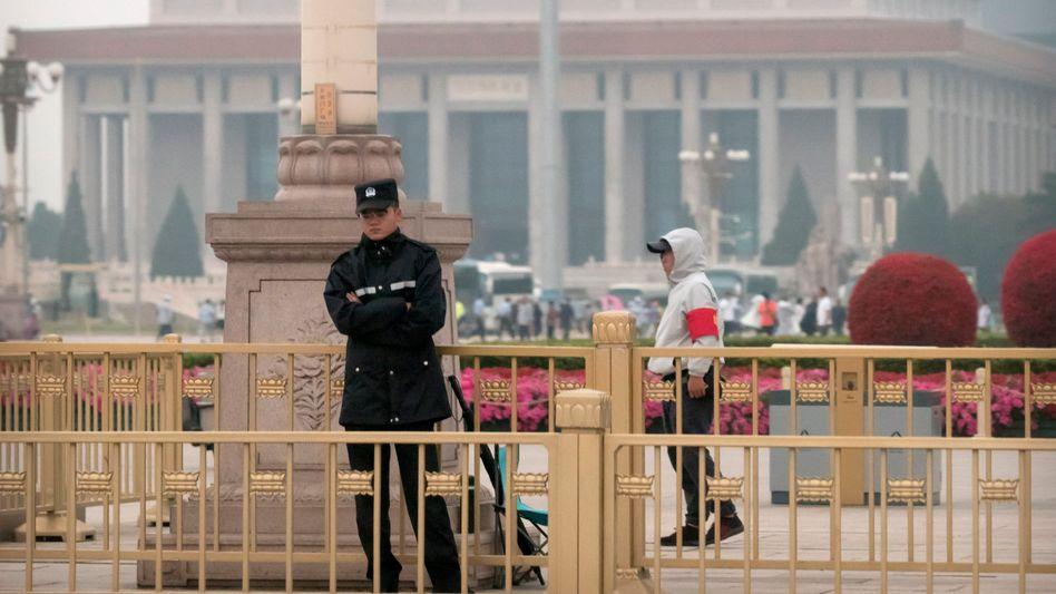 Sicherheitskräfte am Tiananmen-Platz