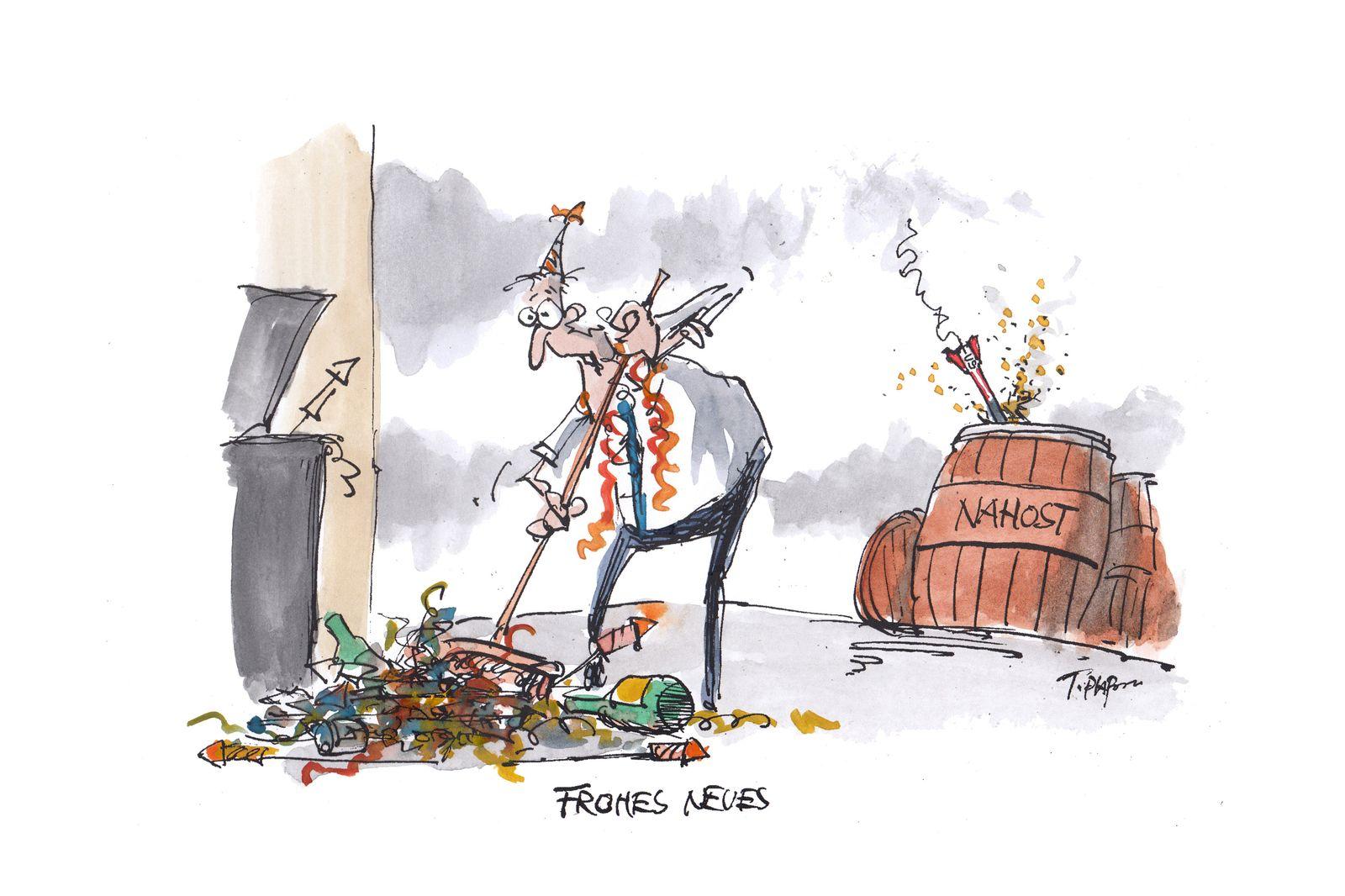 EINMALIGE VERWENDUNG Cartoons/ 06.01.20