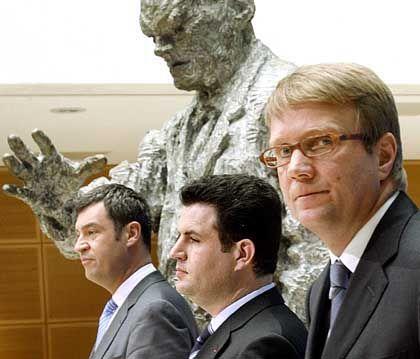 Generalsekretäre der Regierungsparteien: CSU-Söder, SPD-Heil, CDU-Pofalla