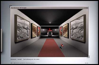 Perfektes virtuelles Gebäude: Der Gang führt in...