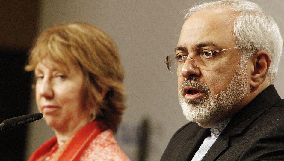 """EU-Beauftragte Ashton und Irans Außenminister Sarif: """"Eine Menge harter Arbeit nötig"""""""