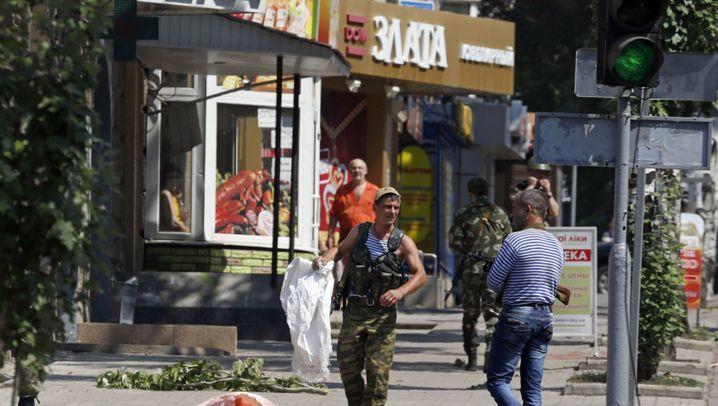 Beschuss in Donezk: Raketen auf den Stadtkern