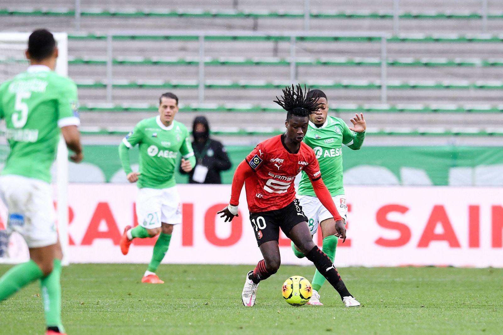 10 EDUARDO CAMAVINGA (REN) FOOTBALL : Saint Etienne vs Rennes - Ligue 1 Uber Eats - 26/09/2020 FEP/Panoramic PUBLICATION