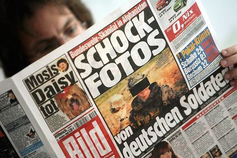 """The cover of Bild: """"Shocking Photos from German Soldiers"""""""