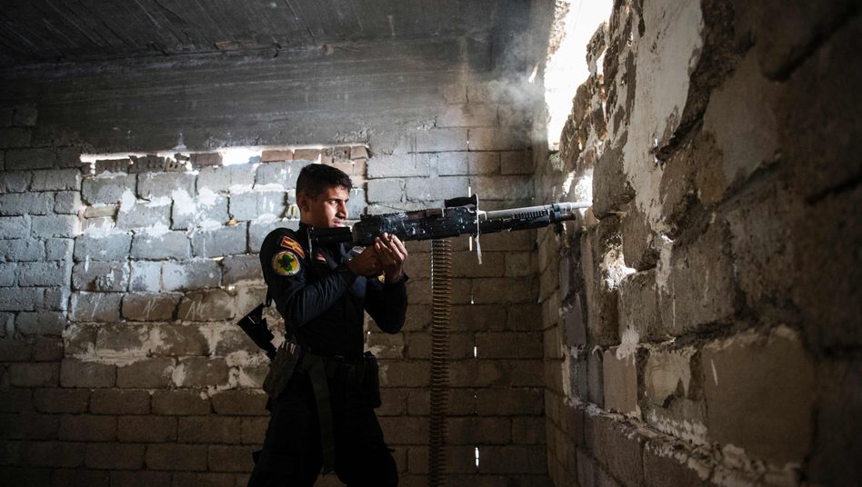 Iraqi Special Forces soldier in Mosul