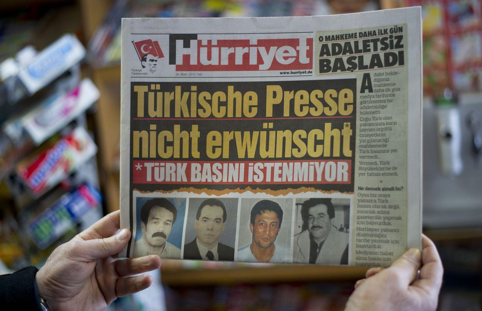 Hürriyet mit deutscher Schlagzeile